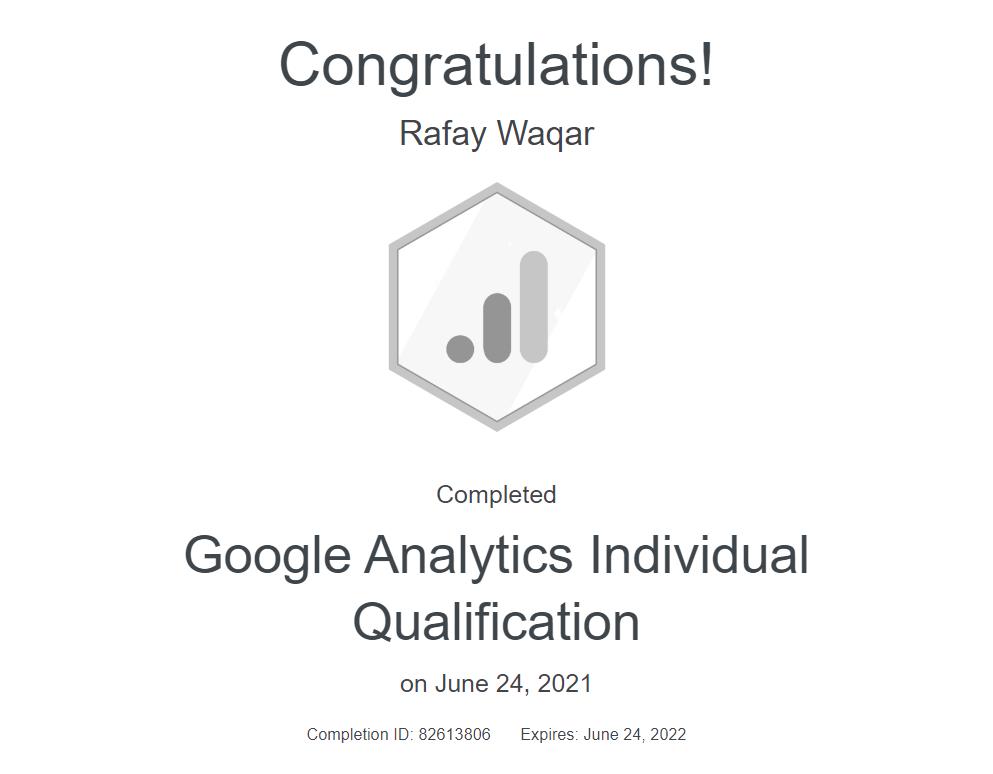 google analytic certification